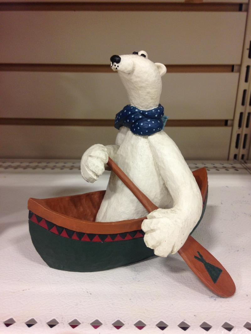 canoeing polor bear